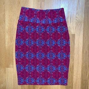 LulaRoe pink/blue pencil skirt